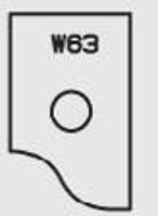 Picture of Plaquette carbure Elbé W63 L:19.8 l:12 Ep:1.5