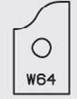 Picture of  Carbide Insert Elbé W64 L:19.8 l:12 Th:1.5