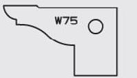 Picture of  Carbide Insert Elbé W75 L:32 l:20 Th:2