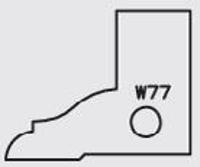 Picture of Plaquette carbure Elbé W77 L:25 l:20 Ep:2