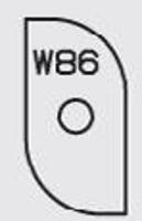 Picture of Plaquette carbure Elbé W86 L:23.4 l:12 Ep:1.5