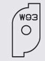 Picture of  Carbide Insert Elbé W93  L:23.5 l:12 Th:1.5