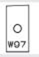 Picture of Plaquette carbure Elbé W97 L:23.5 l:12 Ep:1.5