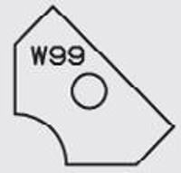 Picture of Plaquette carbure Elbé W99 L:19.6 l:12 Ep:1.5
