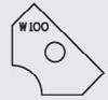 Image de Plaquette carbure Elbé W100 L:19.6 l:12 Ep:1.5