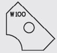 Picture of Plaquette carbure Elbé W100 L:19.6 l:12 Ep:1.5