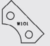 Image de Plaquette carbure Elbé W101 L:24.2 l:12 Ep:1.5