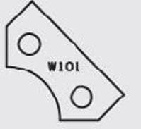 Picture of  Carbide Insert Elbé W101  L:24.2 l:12 Th:1.5