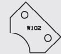 Picture of Plaquette carbure Elbé W102 L:30 l:20 Ep:2