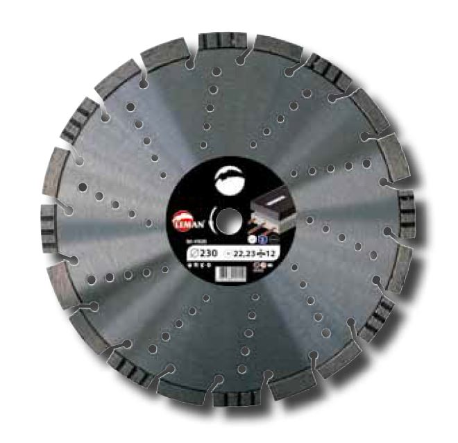 Picture of Diamond disc LEMAN 410405 Ø400 B:25.4 Asphalt, reinforced concrete, granite, metal/steel Th:3.5