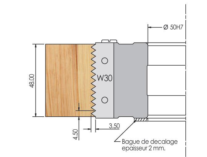 Picture of PORTE-OUTILS POUR JOINTS COLLES À PLAQUETTES WS PA012080 Ø125 H:78 Al:50