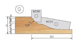 Picture of PORTE-OUTILS PLATE BANDE DOUCINE MULTI-PROFILS WS PP019120 Ø180 Al:50 Profile G Dessus