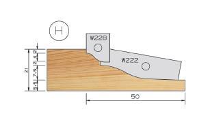 Picture of PORTE-OUTILS PLATE BANDE DOUCINE MULTI-PROFILS WS PP019125 Ø180 Al:50 Profile H Dessous