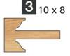 Image de TÊTES CONTRE PROFIL MULTI-TENONS À PLAQUETTE WS MT020735 Talon 10 x 8 Dessus