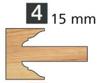 Image de TÊTES CONTRE PROFIL MULTI-TENONS À PLAQUETTE WS MT020815 Avancement 15 mm Dessous