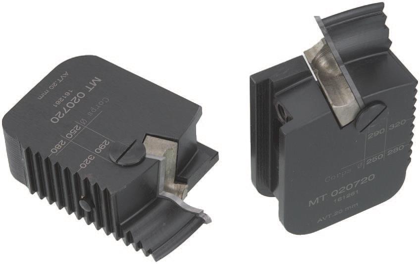 Picture of TÊTES CONTRE PROFIL MULTI-TENONS À PLAQUETTE WS MT020720 Avancement 20 mm Dessus