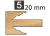 Image de TÊTES CONTRE PROFIL MULTI-TENONS À PLAQUETTE WS MT020820 Avancement 20 mm Dessous