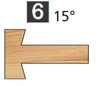 Image de TÊTES CONTRE PROFIL MULTI-TENONS À PLAQUETTE WS MT020845 Pente Dessous