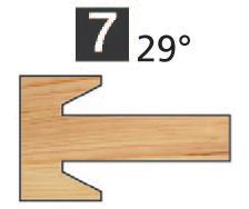 Picture of TÊTES CONTRE PROFIL MULTI-TENONS À PLAQUETTE WS MT020740 Chanfrein 25° 10 x 5 Dessus