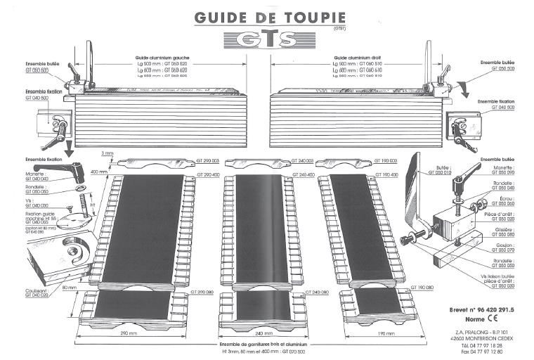 Picture of GUIDE DE TOUPIE GT060500  500 mm