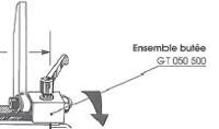 Picture of Butée escamotable amovible pour guide de toupie GTS