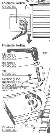 Picture of Fixation guide / machine HT = 80 mm GT040080 pour guide de toupie GTS