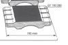 Picture of Garniture de protection - 0,80 mm x 190 mm GT190080 pour guide de toupie GTS