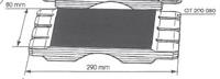 Picture of Garniture de protection - 0,80 mm x 290 mm GT290080 pour guide de toupie GTS