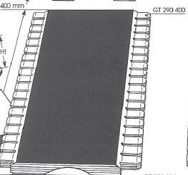 Picture of Garniture de protection - 400 mm x 290 mm GT290400 pour guide de toupie GTS