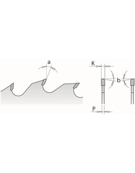 Picture of Lame circulaire Carbure CMT27902010V Ø250 Al:70 Ep:3.2/2.2 Z20+4