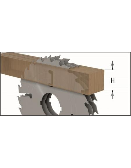 Picture of Circular saw blade CMT CMT27902412W Ø300 B:80 Th:3.2/2.2 Z24+4
