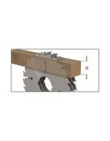 Picture of Circular saw blade CMT CMT28002412W Ø300 B:80 Th:2.7/1.8 Z24+4
