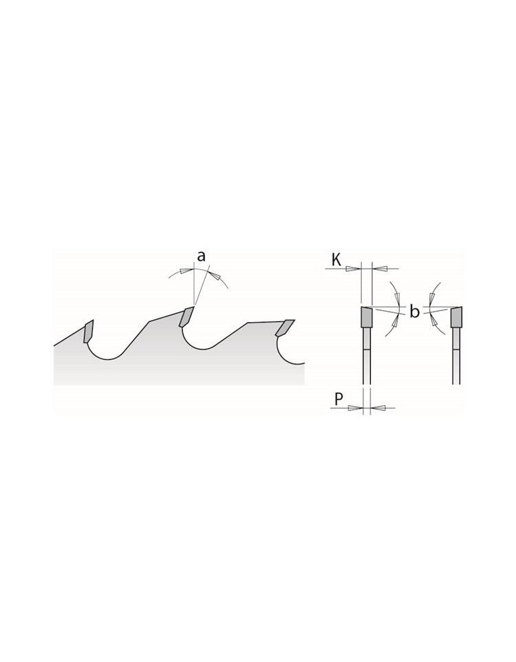 Picture of Lame circulaire Carbure CMT27702412W Ø300 Al:80 Ep:4.0/2.8 Z24+4