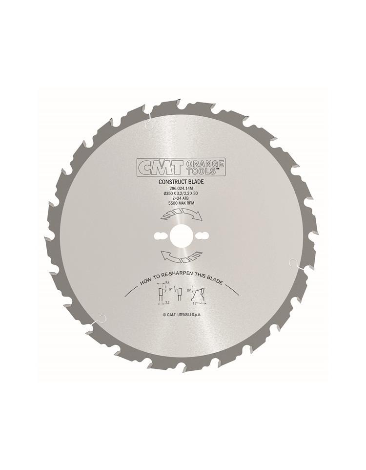 Picture of Lame circulaire Carbure CMT28602413M Ø315 Al:30 Ep:3.2/2.2 Z24