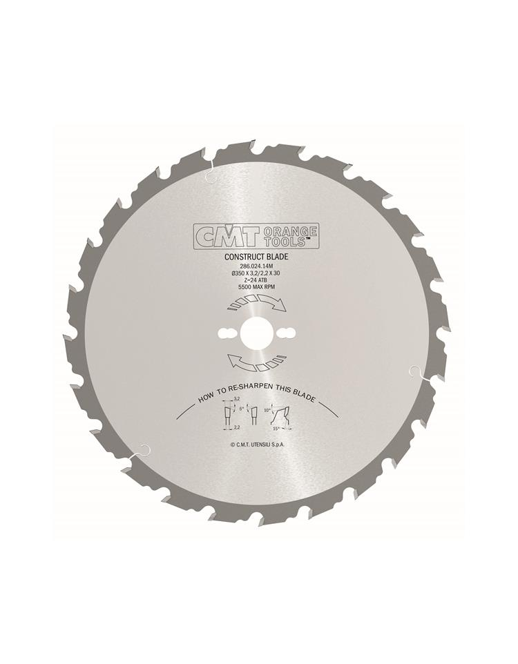 Picture of Circular saw blade CMT CMT28602816M Ø400 B:30 Th:3.2/2.2 Z28