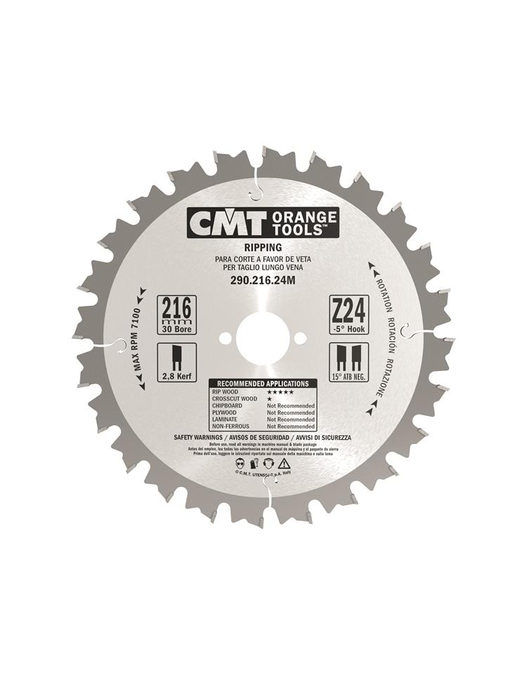 Picture of Circular saw blade CMT CMT29020024M Ø200 B:30 Th:2.8/1.8 Z24