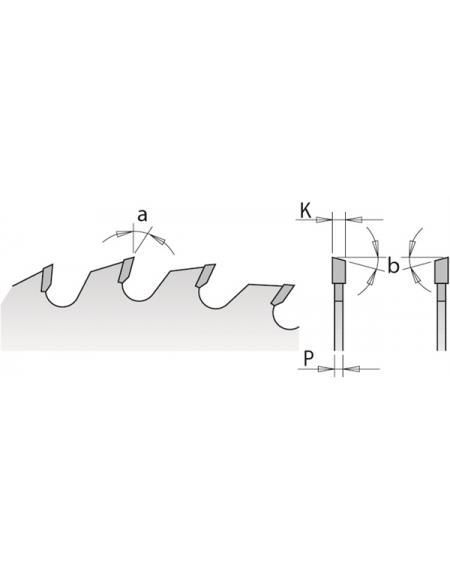 Picture of Lame circulaire Carbure CMT29116524H Ø165 Al:20 Ep:2.2/1.6 Z24