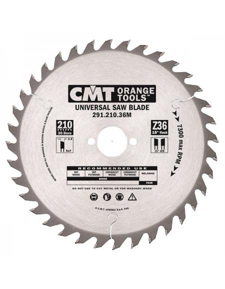 Picture of Circular saw blade CMT CMT29116524M Ø165 B:30 Th:2.6/1.6 Z24
