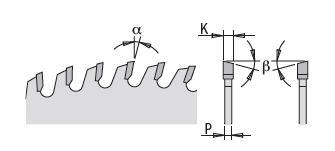 Picture of Lame circulaire Carbure CMT28565414M Ø350 Al:30 Ep:3.5/2.5 Z54