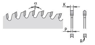 Picture of Circular saw blade CMT28704910M Ø250 B:30 Th:3.2/2.2 Z48
