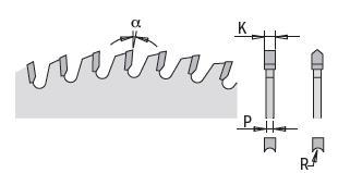 Picture of Circular saw blade CMT28766012M Ø303 B:30 Th:3.2/2.2 Z60