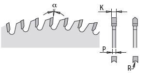 Picture of Circular saw blade CMT28706012M Ø303 B:30 Th:3.2/2.2 Z60