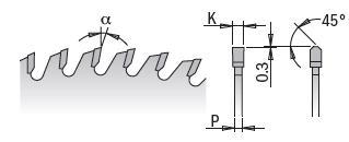 Picture of Lame circulaire Carbure CMT28116040H Ø160 Al:20 Ep:2.2/1.6 Z40